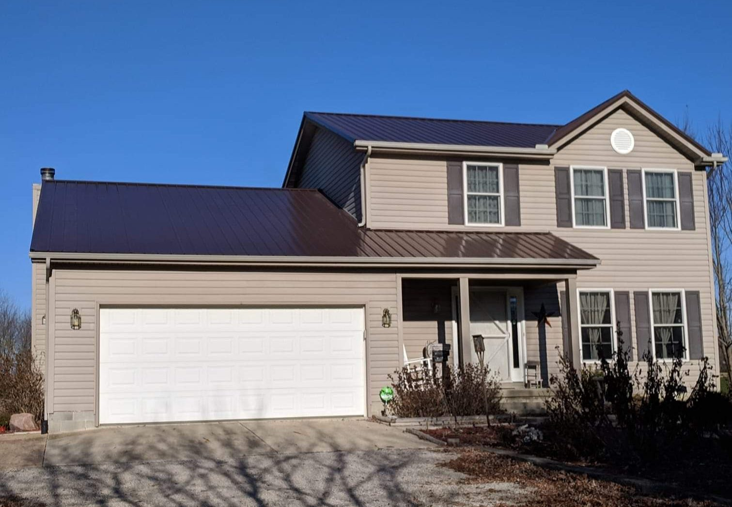 Two story metal roofing project
