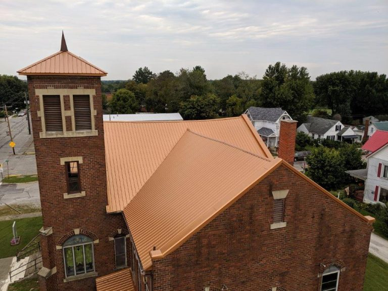 Copper Metal Roof On Church